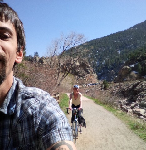 Adam & Irene training for Ride the Rockies on the Boulder Creek Path